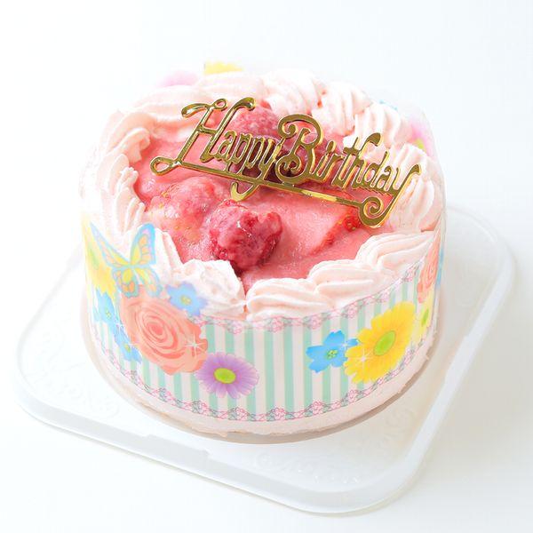 Birthday Cake Strawberry Cream Decor 4 Hokkaido Pure