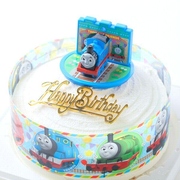 バンダイキャラデコお祝いケーキ ボンブ ドーム型 ケーキ きかんしゃトーマス キャラデコ ポストカード無料 ケーキ5号 日本最大級の品揃え お面とバルーンは付いておりません バースデーオーナメントとキャンドル小1袋6本付き 爆買いセール
