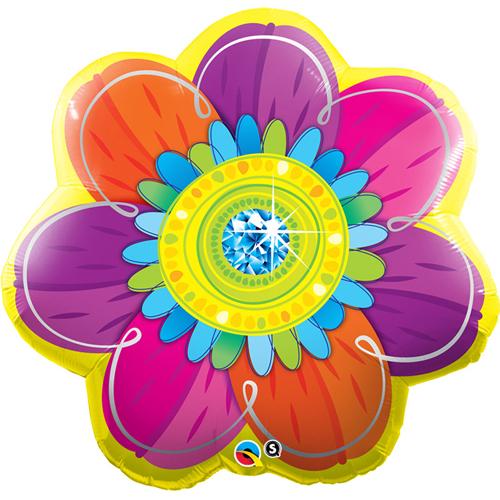 ディスカウント 69x69cm カラフルではなやかなお花の特大バルーン ベリーオレンジ ジュエルドブラッサム 68L バルーン 風船 直営ストア パーティーデコレーション HAPPY バースデイ 自宅で記念撮影 おうちスタジオ お誕生日のお祝い BIRTHDAY