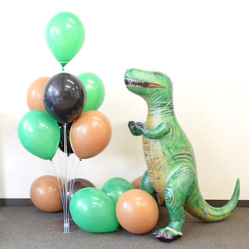 【バルーン装飾】ベース付バルーンスティック 恐竜セット