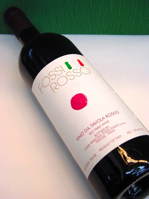 常温便 送料無料 フォッシ・ロッソ 750ml×12本 赤ワイン イタリア・トスカーナ ミディアムボディ、パーティー、イベント、まとめ買い