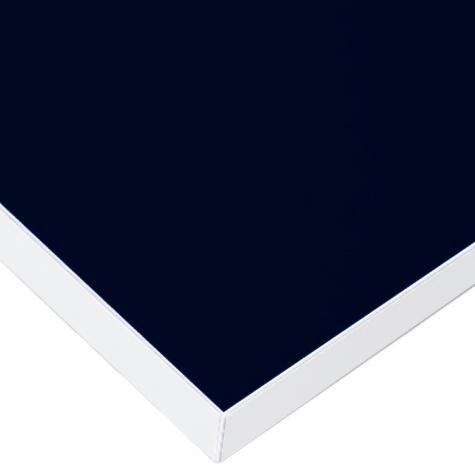 メラミン天板 ネイビー&ホワイト デスクセット用 W1505~1800 D600~700