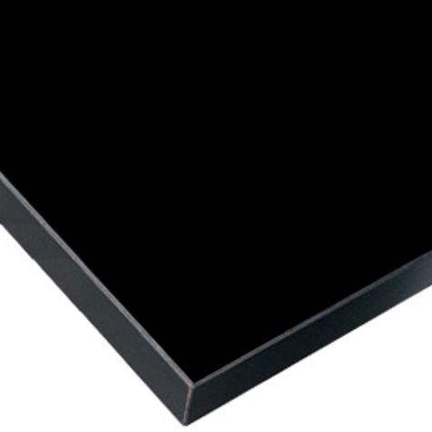 メラミン天板B ブラック デスクセット用 W1505~1800 D605~700【テレワーク デスク】