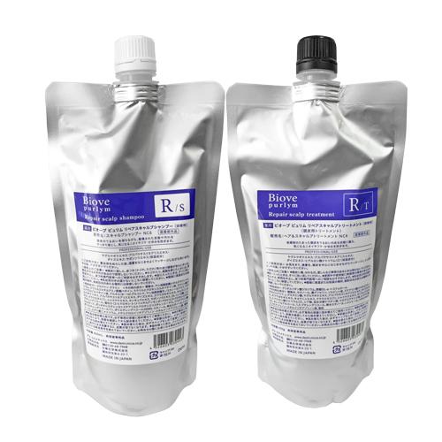 デミ ビオーブ ピュリム 薬用リペアスキャルプ シャンプー 450ml + トリートメント 450g セット (医薬部外品)(詰替用)