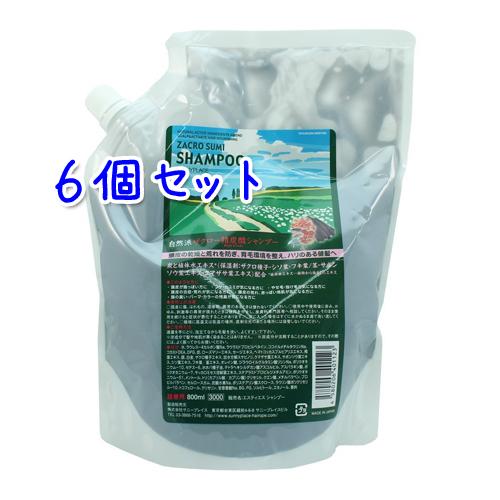 サニープレイス ザクロ精炭酸 シャンプー 800ml × 6本セット (詰替用)