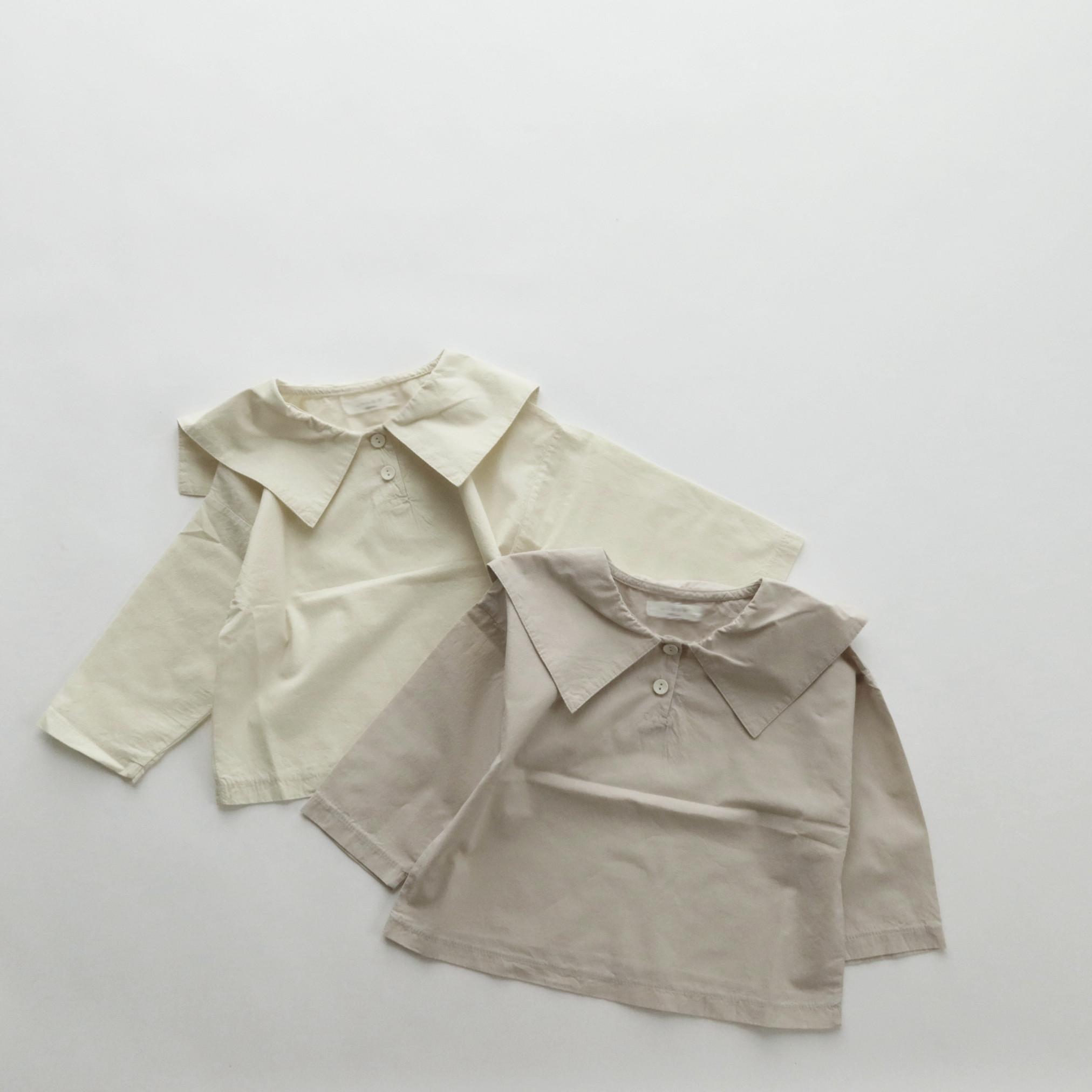 オートミールブラウス Bisque びすく 韓国子供服 ビスク キッズ服 女の子 新作入荷 長袖 男の子 正規品
