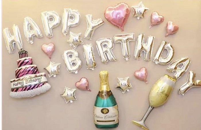 クーポン配布中 お大切な誕生日のお祝い 可愛いパーティーセットで素敵な空間を作ってみませんか? 誕生日バルーン セット 誕生日飾り付け バルーン 誕生日 シャンパンバルーン シャンパン 秀逸 happybirthday 開店お祝い 品質保証 誕生日風船 シャンパングラス風船 風船 パーティー飾り付け
