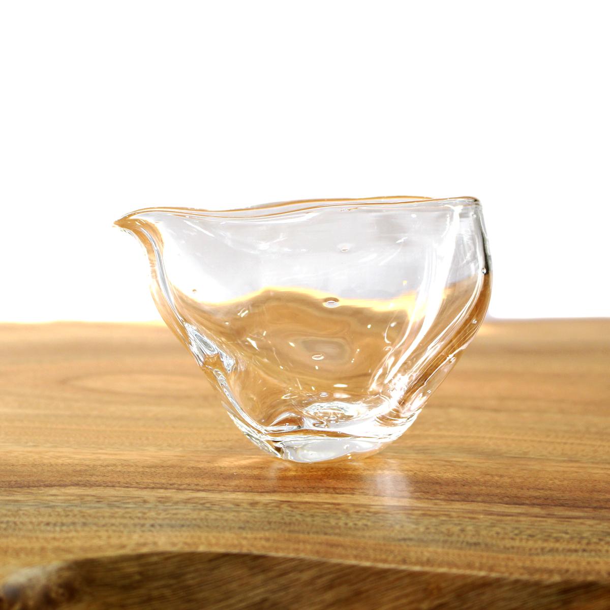 人気の定番 ゆらゆら揺れる オンリーワン 片口 冷酒器 輸入 おしゃれ ガラスアート glasscalico ガラス酒器 ミナモ ハンドメイド ギフト グラスキャリコ プレゼント