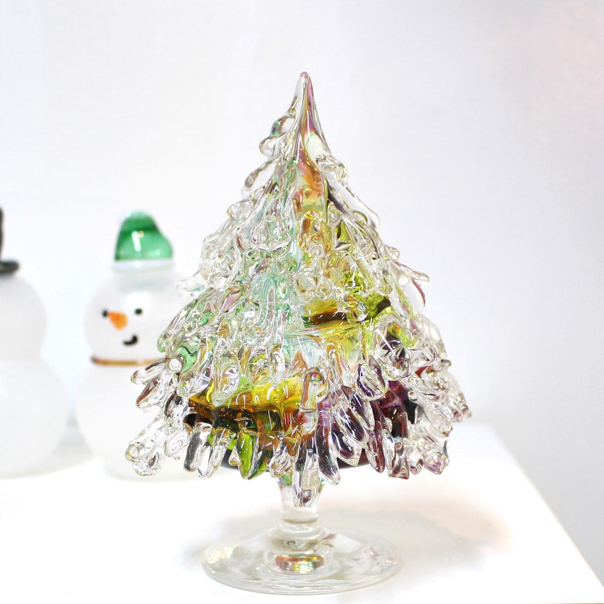 ガラス製 クリスマスツリー(M)glasscalico グラスキャリコ ハンドメイド ガラスアート オブジェ インテリア 置物 ギフト プレゼント