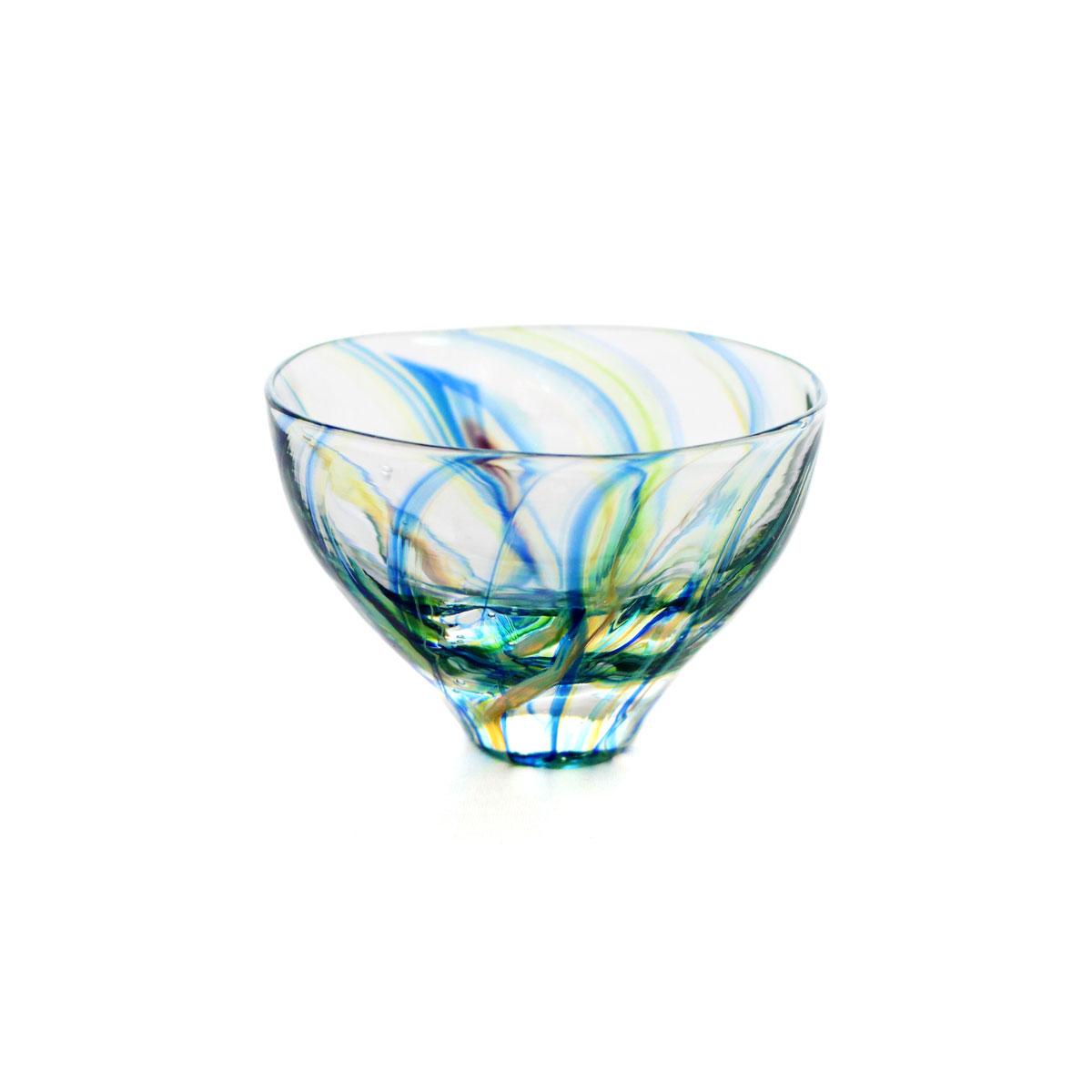 SAIZOU GLASS LABO サイゾウグラスラボ ハンドメイド ガラス酒器 Lotus (ロータス) ぐい呑 冷酒器
