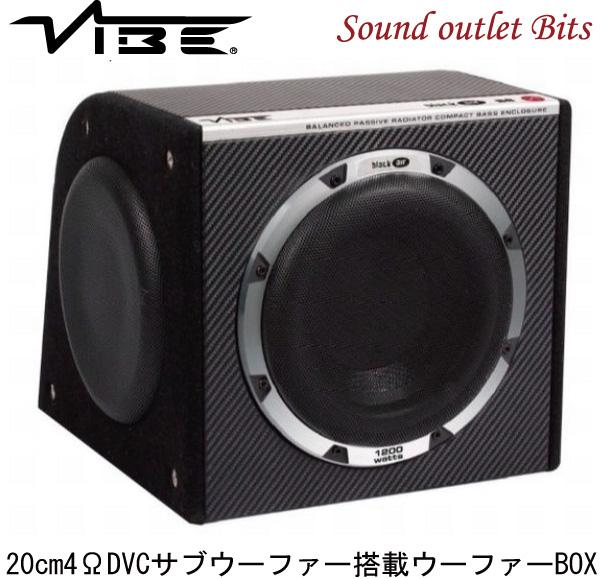 【VIBE】ヴァイブBLACKAIRB8-V6 20cm4Ω薄型サブウーファー搭載ウーファーBOX