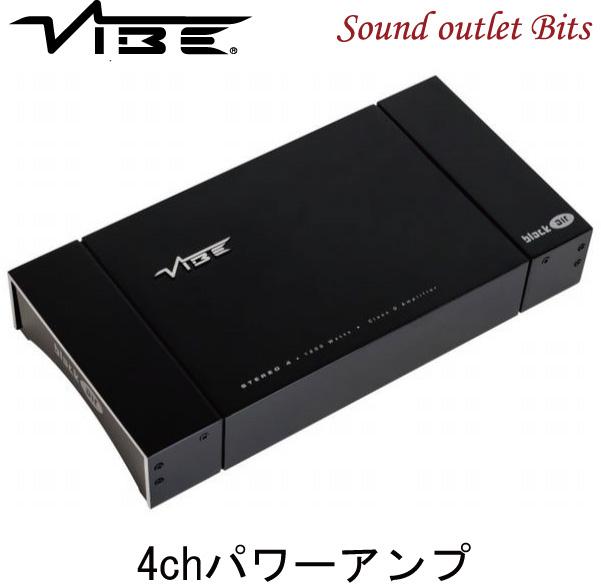 【VIBE】ヴァイブ VA-BLACKAIRS4-V1 BLACKAIRシリーズ100W×4chパワーアンプ