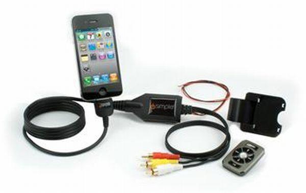 【isimple】アイシンプルIS76PROMediaWireProRCA-Dockコネクター音声/映像ケーブルリモコン付き2.1A充電可能