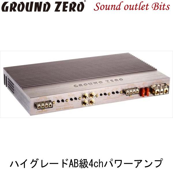 【GROUND ZERO】グラウンドゼロGZUA 4.150SQ-PLUS110W×4ch(4Ω)パワーアンプ