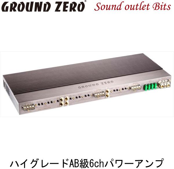 【GROUND ZERO】グラウンドゼロGZUA 6.200SQ-PLUS110W×4ch+160W×2ch(4Ω)パワーアンプ