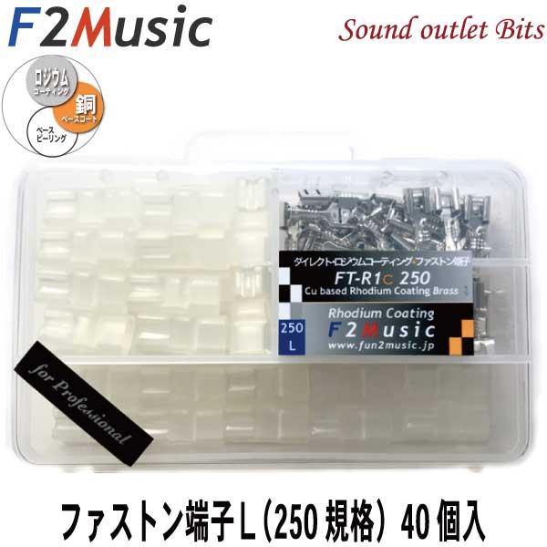 F2MusicFT-R1c 250 for Professionalダイレクトロジウムコーティング+(プラス)ファストン端子Lサイズ(ケース付き)40個入バルクセット