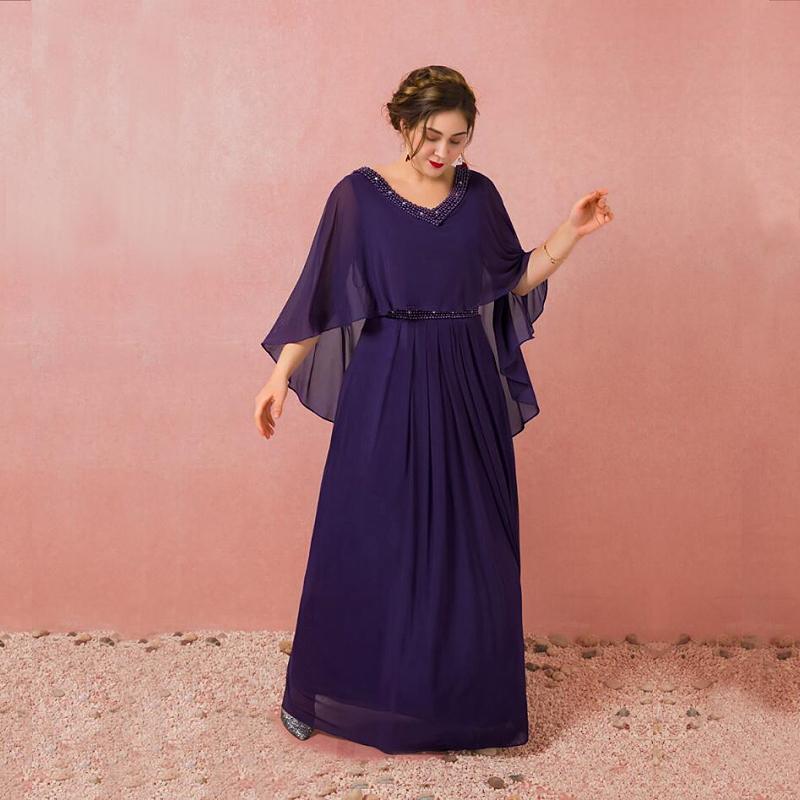 【大きいサイズカラードレス】大きいサイズパーティードレス/ウエディングドレス/ロングドレス/ブライズメイドドレス/スレンダーライン/編み上げタイプ/床付きタイプ/ショール一体タイプ【パープル】【XL-7XLサイズ】fhk19
