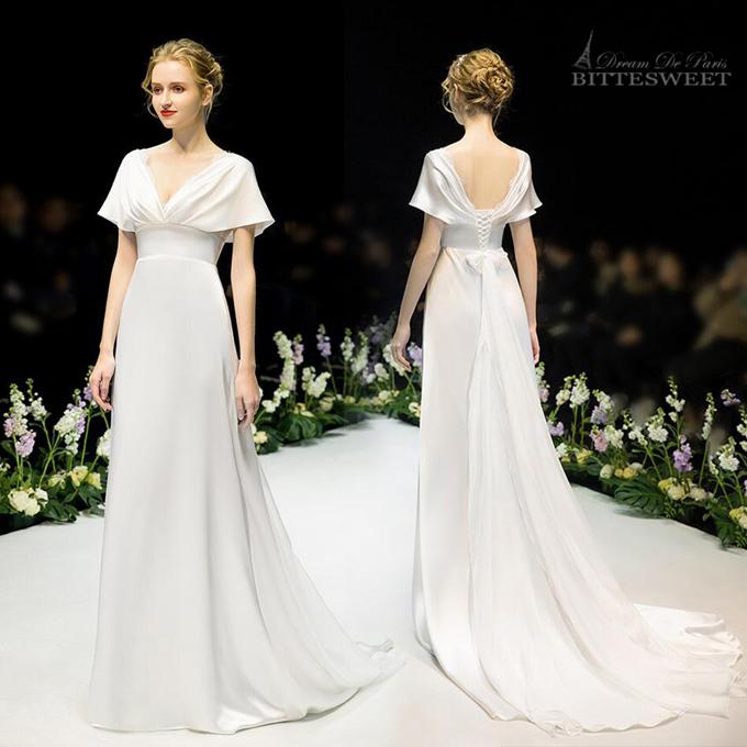 2021新入荷 Dream De Paris シリーズドレス オーダーメイドも可能 ウエディングドレス ウェディング ドレス Wedding AL完売しました。 Dress Vネック トレーンドレス ファスナータイプ 結婚式 海外挙式ドレス XS~XL 数量限定アウトレット最安価格 スレンダーライン OR wd473ls ホワイト 編み上げタイプ レディースドレス パーティードレス