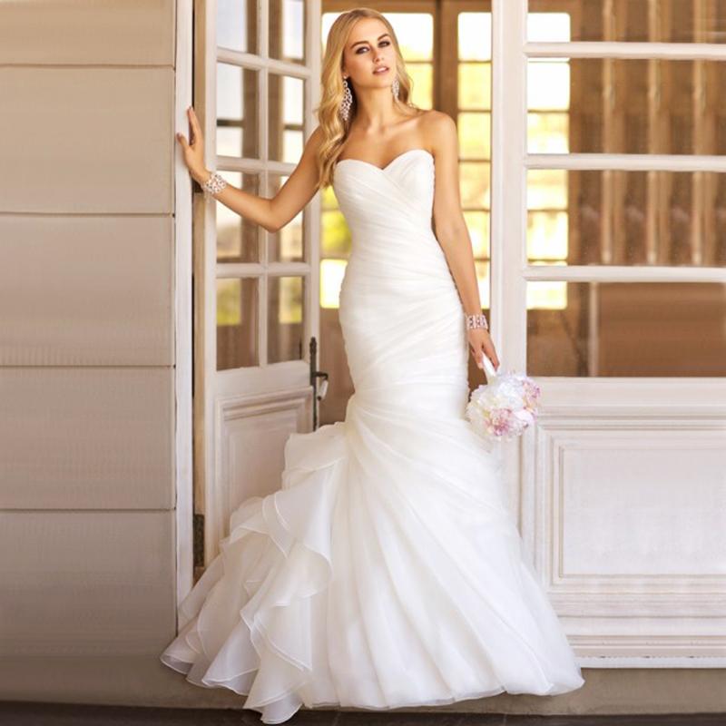 オーダーメイドも可能 ウェディングドレス ビスチェタイプウエディングドレス マーメイドライン 編み上げタイプ ホワイト XS~XXLサイズ wd10