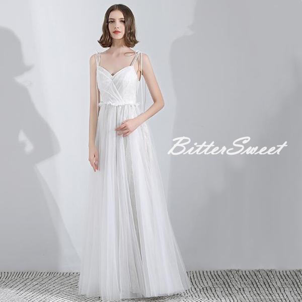 オーダーメイドも可能 キャミソールワンピース ウェディングドレス ウエディングドレス パーティードレス 編み上げタイプ スレンダーライン ノースリーブ 床付きタイプ【ライトグレー・ホワイト】【XS~XXL】【wd115xy】