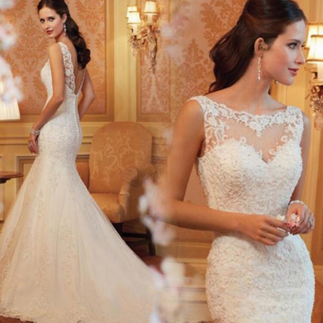 オーダーメイドも可能 ウェディングドレス マーメイドライン ロングドレス ウェディングドレス ウエディングドレス ノースリーブ レース 刺繍 ファスナータイプ ホワイト XS~XXXL wd42