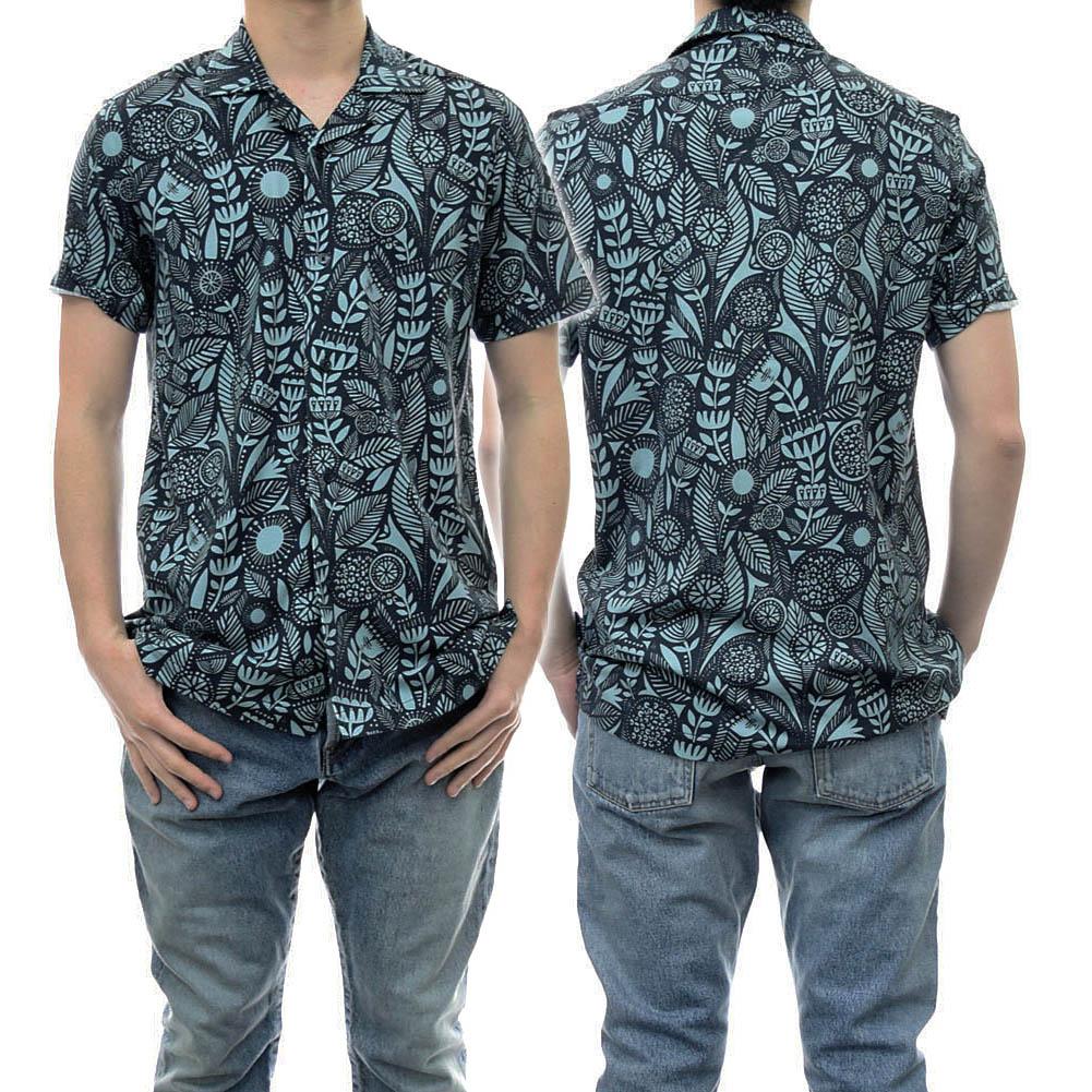 2021春夏新作 超激得SALE CIRCOLO1901 チルコロ1901 メンズ半袖シャツ ☆正規品新品未使用品 ネイビー メンズショートスリーブシャツ CN3087