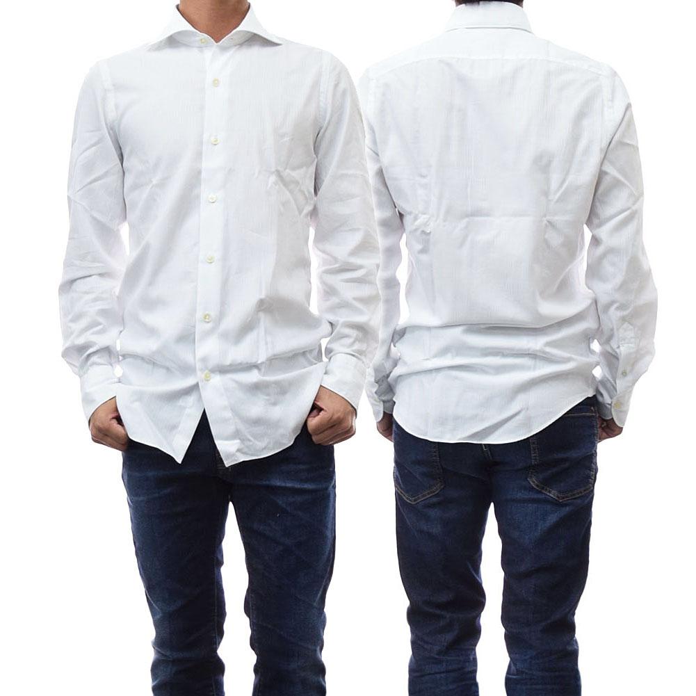 (フィナモレ)FINAMORE メンズカッタウェイシャツ SIMONE / SEATTLE 840616 ホワイト /2018秋冬新作【あす楽対応】