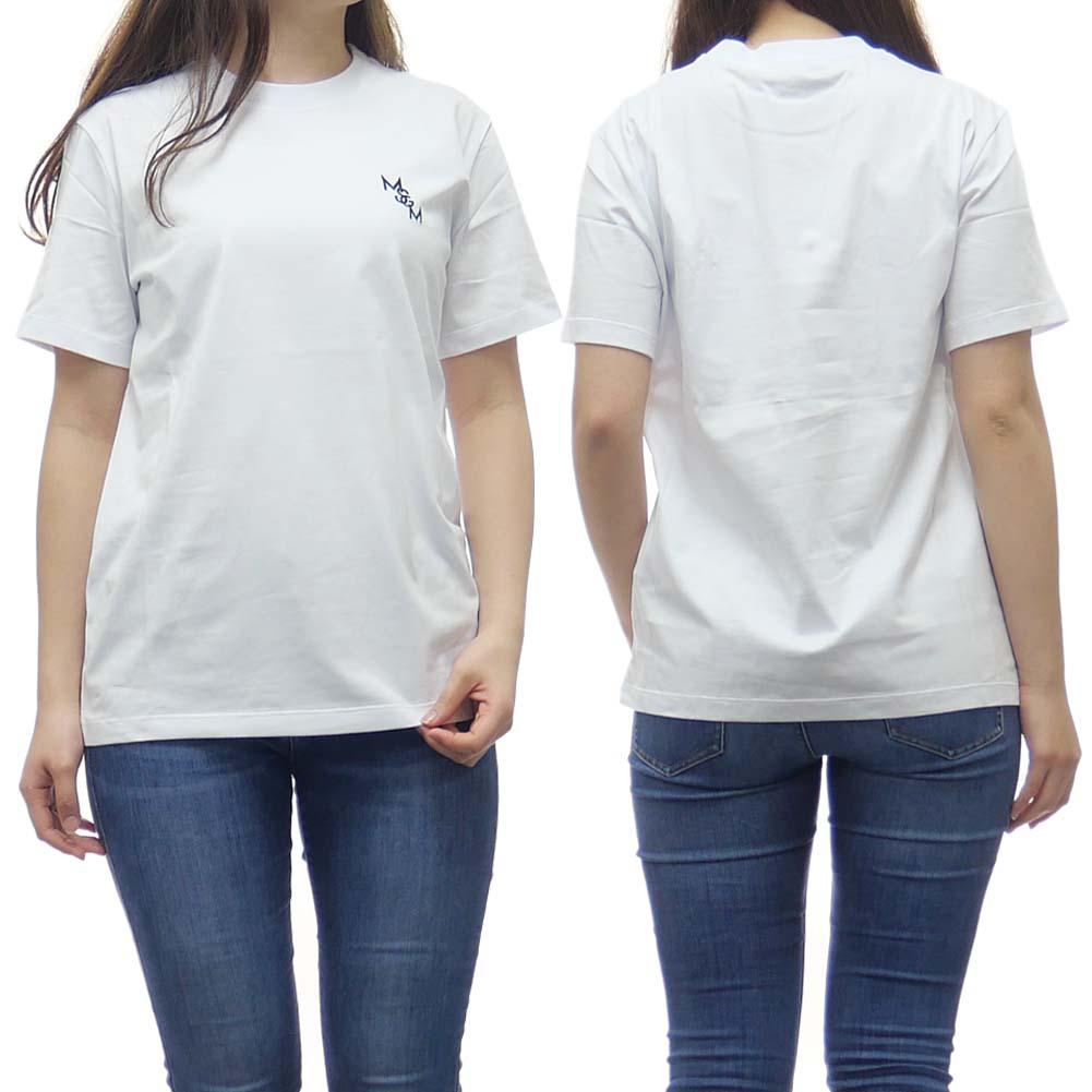 (エムエスジーエム)MSGM レディースクルーネックTシャツ 2841MDM212 207298 ホワイト /2020春夏新作