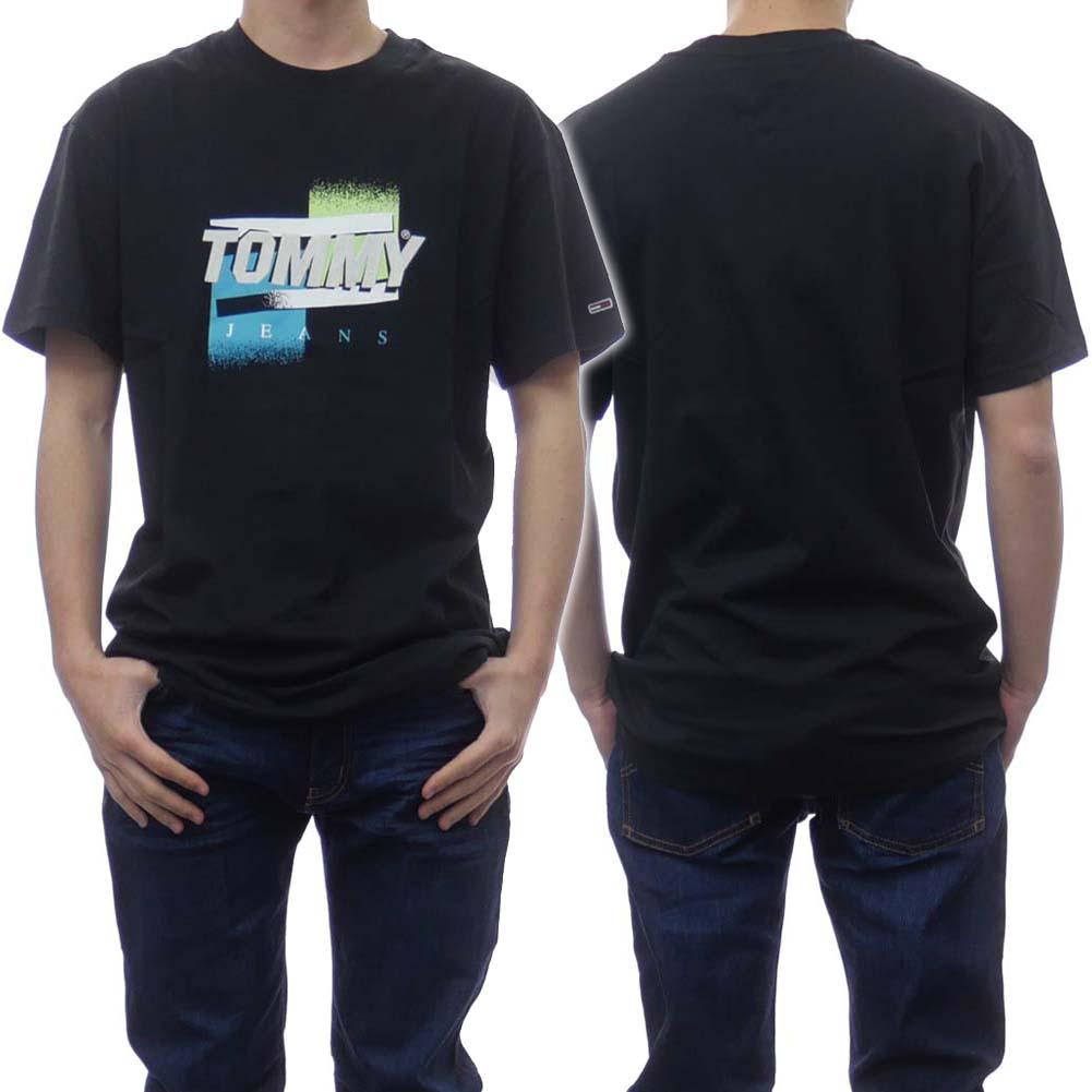 2021春夏新作 TOMMY JEANS トミージーンズ 国内在庫 メンズTシャツ 半袖 DM0DM10233 ブラック 新作多数 メンズクルーネックTシャツ