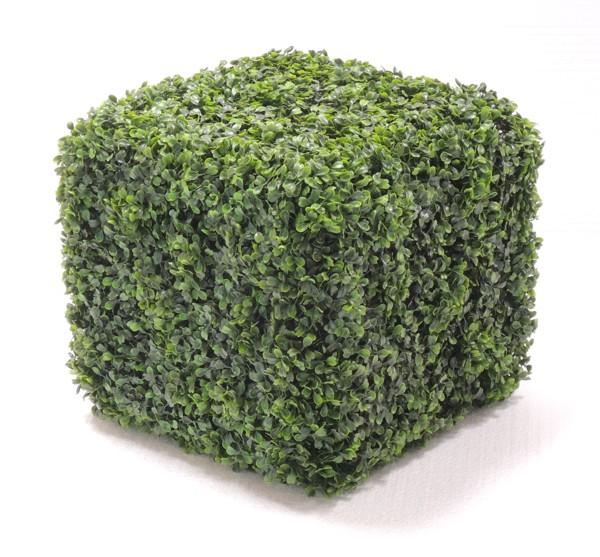 造作オブジェ 高さ33cm (ボックスウッド スクエア 造花 観葉植物 植栽 インテリア グリーン 置物 四角)