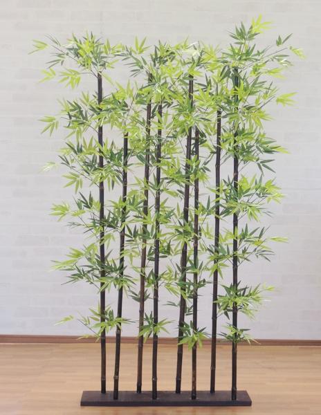 黒竹8本立パーテーション150cm (人工竹 造花 大型 インテリア 和風 庭 フェイクグリーン バンブー)