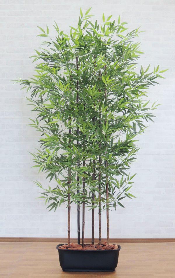 衝立 造花 新着 インテリア 観葉植物 人工竹 新作通販 おしゃれ 室内 黒竹パーテーション 樹木 バンブー 1.8m 180cm 目隠し クロタケ 人工観葉植物