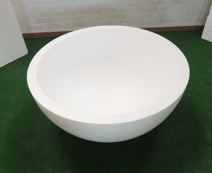 直径600mm発泡スチロール半球 (玉 粘土副資材 芯材 土台 600ミリ 外径60cm お椀型 通販 販売 大きい 造形)