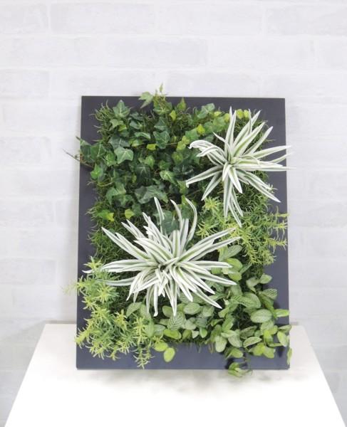 一味違うアートフレームでインテリアに差をつけてみませんか? 壁面造花ディスプレイD 今だけスーパーセール限定 人工植物 アートフレーム グリーン インテリア ウォールデコレーション 市販
