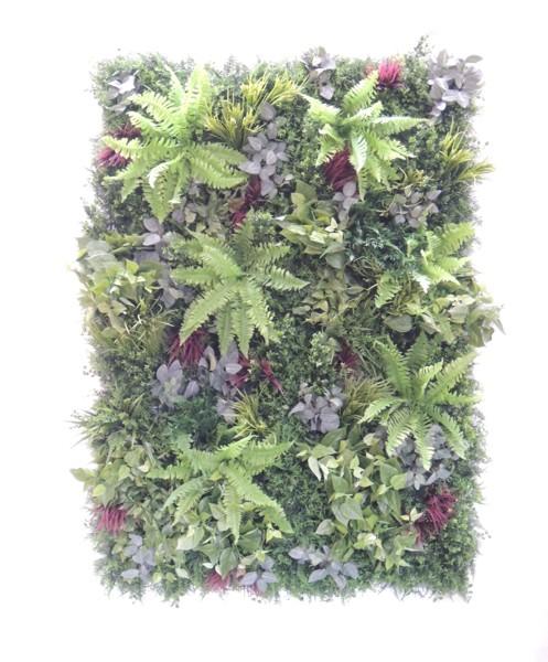 壁面緑化パネル グリーンQ 1.8m×1.2m(2分割 大型 目隠し イミテーション 造花 フェイク 装飾 インテリア おしゃれ 室内 ウォールデコレーション)