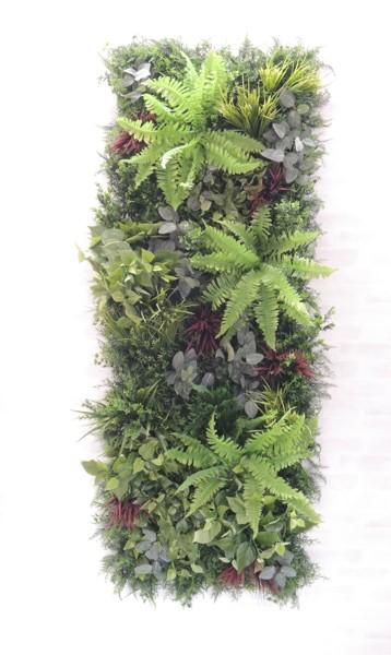 お得セット 大型 目隠し おしゃれ イミテーション 造花 フェイク 1.8m×0.6m グリーンR 装飾 壁面緑化パネル