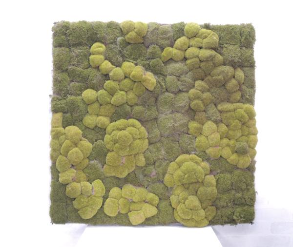 緑化パネル 苔壁面 90cm×90cm(コケ 大型 目隠し イミテーション 造花 フェイク 装飾)