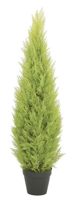 ゴールドクレストツリー (ライトグリーン) 120cm (造花 インテリア 観葉植物 人工 フェイクグリーン お洒落)(屋外使用可能)