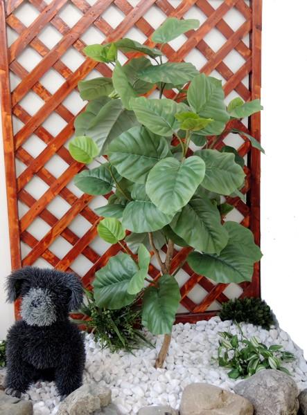 ミニウンベラータ 高さ100cm (造花 人工観葉植物 ガーデニング 造園 庭園 坪庭 インテリア 洋風 和風)