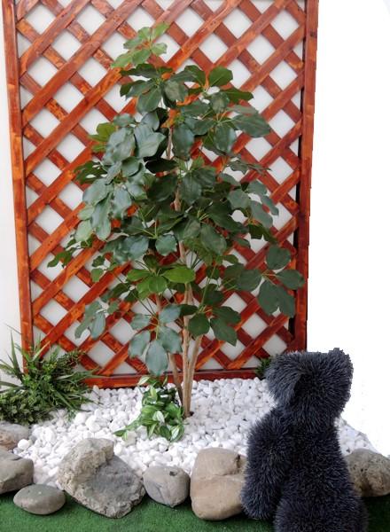 シェフレラ 購買 人工観葉植物 卸直営 造花 インテリア 高さ100cm ガーデニング フェイクグリーン カポック 庭園 坪庭 造園 おしゃれ