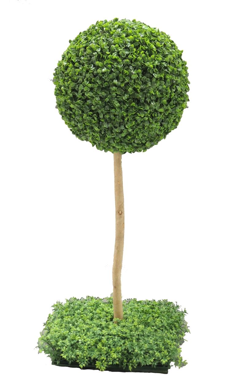 ボックスウッドトピアリー 高さ70cm (造花 人工観葉植物 樹木 円形 ガーデニング 球体 丸い オブジェ インテリア)