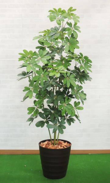 180cm 人工樹木 1.8m) (グリーン 人工観葉植物 カポックツリー 造花