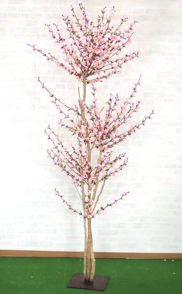 モモツリー 210cm (人工樹木 造花 桃 ピンク)