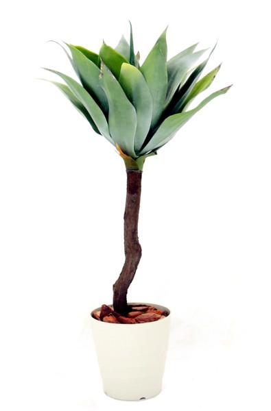 アガベプラント 高さ90cm (造花 樹木 人工観葉植物 造花 インテリア おしゃれ 室内 装飾 メキシカン テキサス風 多肉植物)