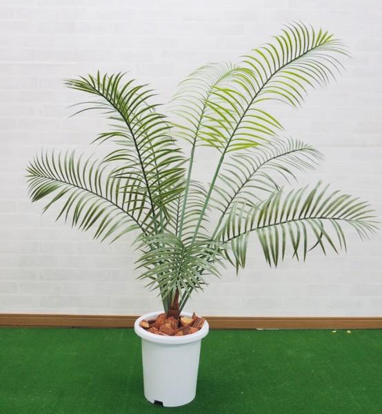アレカツリー 高さ140cm (フェイクグリーン 造花樹木 人工観葉植物 1.4m 屋外使用可能 鉢植え パーム ヤシ)
