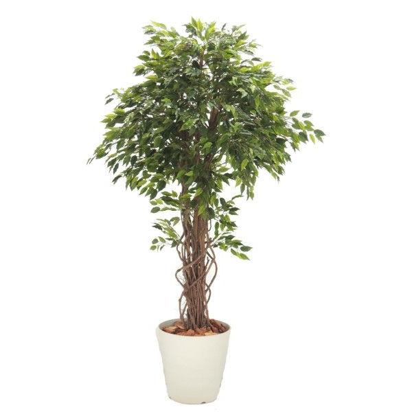 ベンジャミンリアナ 180cm (人工観葉植物 造花 人工樹木 フェイクグリーン 1.8m)