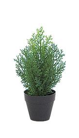 造花 インテリア 最新アイテム 観葉植物 当店限定販売 人工樹木 クレストツリー グリーン 30cm 屋外使用可能 ミニ 人工 フェイクグリーン