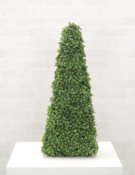 立体オブジェでお部屋にアクセントを ボックスウッド背が高い三角錐オブジェ 希望者のみラッピング無料 高さ68cm 造花 立体 インテリア 人工観葉植物 ◇限定Special Price