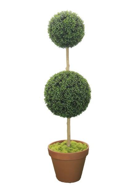グリーントピアリー160cm2段(造花 人工 観葉植物 オブジェ インテリア 円形 おしゃれ 装飾 お花 置物 ディスプレイ)