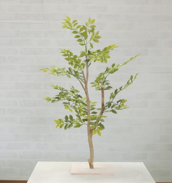 明るい葉のトネリコツリー60cm(造花 インテリア おしゃれ 室内 人工 観葉植物 ゴールデンリーフ ミニサイズ 装飾)
